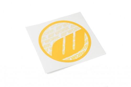 WORK Circle Sticker Yellow (W140010)
