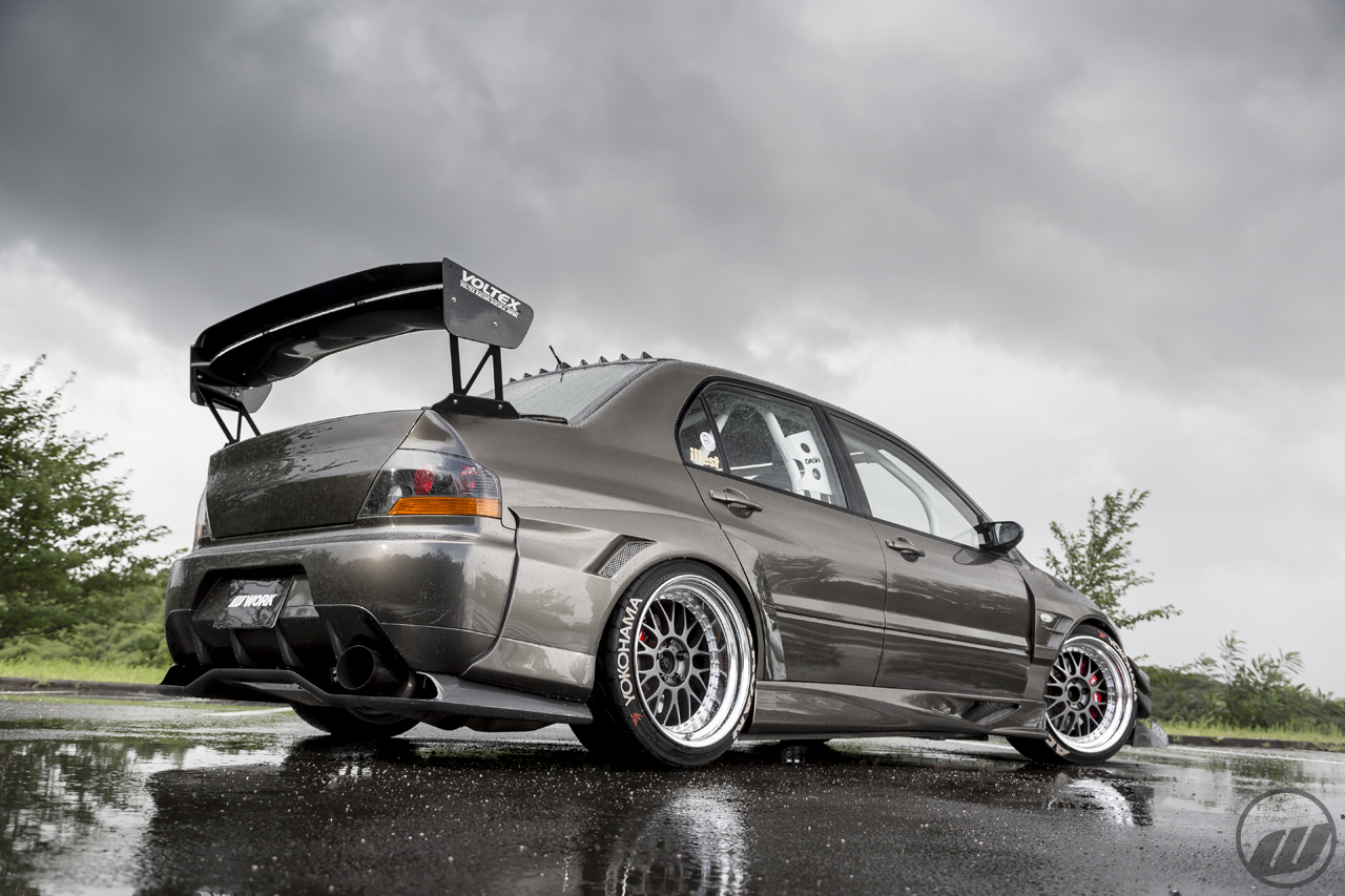 hara tire mitsubishi lancer evolution 7 on work meister m1