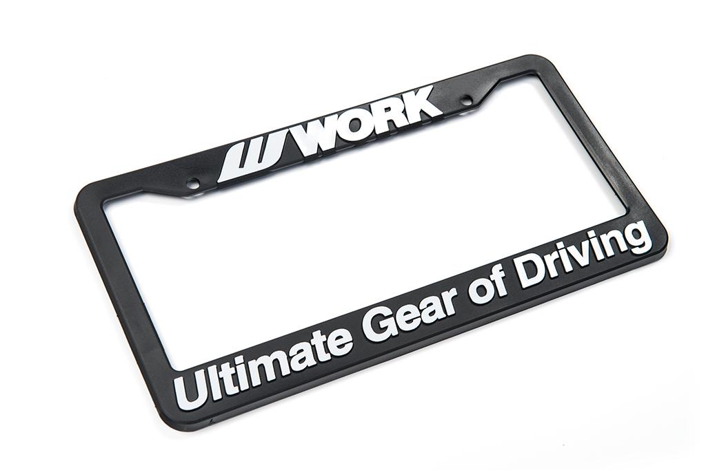 WORK License Plate Frame – WORK Wheels USA