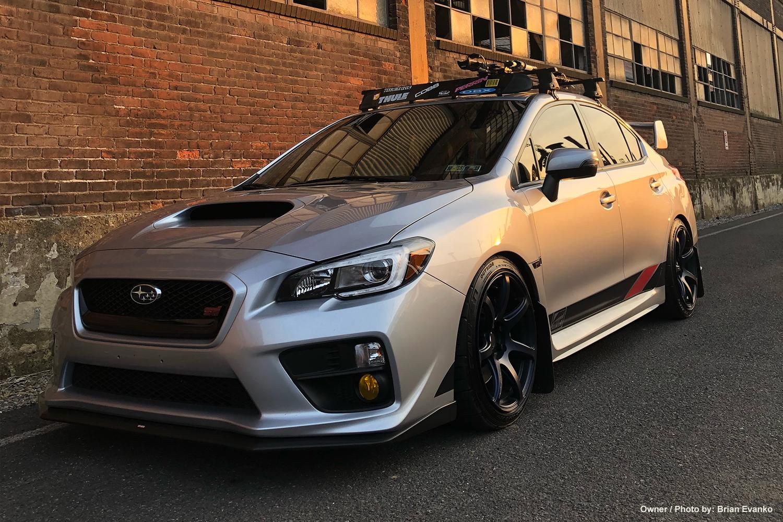 Subaru Work Wheels Usa Blue Sti With White Rims Brian Evankos On Emotion T7r In Matte Ble Finish